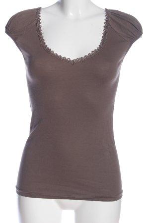 Vero Moda V-Ausschnitt-Shirt braun Elegant
