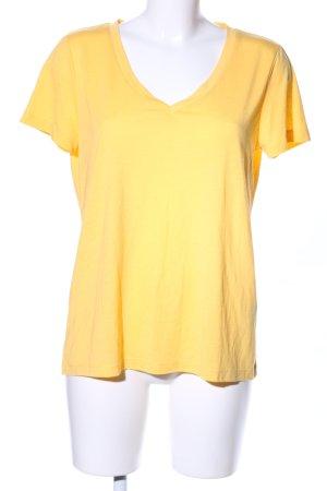 Vero Moda V-Ausschnitt-Shirt blassgelb Casual-Look