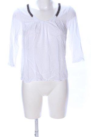 Vero Moda V-Ausschnitt-Shirt weiß Casual-Look