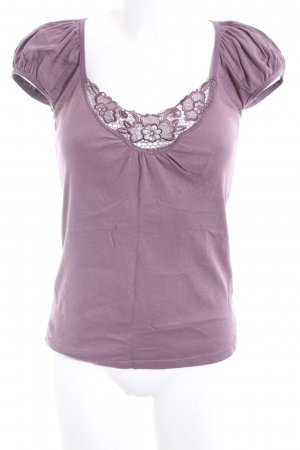 Vero Moda V-Ausschnitt-Shirt lila Casual-Look