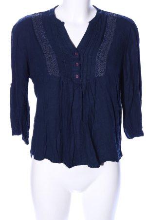 Vero Moda T-shirt col en V bleu style décontracté