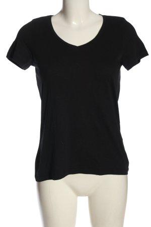 Vero Moda V-Ausschnitt-Shirt schwarz Casual-Look