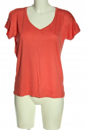 Vero Moda V-Ausschnitt-Shirt rot Casual-Look