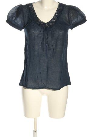 Vero Moda V-Ausschnitt-Shirt blau Casual-Look