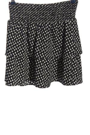 Vero Moda Spódnica z falbanami czarny-biały Na całej powierzchni