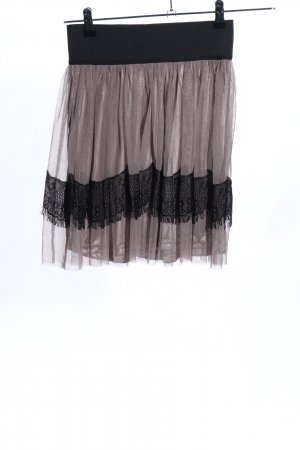 Vero Moda Volanten rok roze-zwart feest stijl