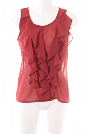 Vero Moda Volanttop rot Business-Look
