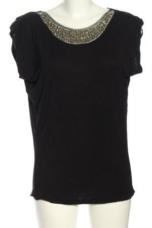 Vero Moda Koszulka z dekoltem woda czarny-złoto W stylu casual