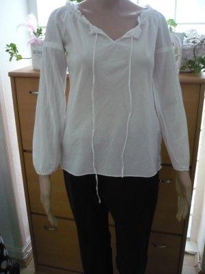 VERO MODA weiße Bluse mit langen Ärmeln