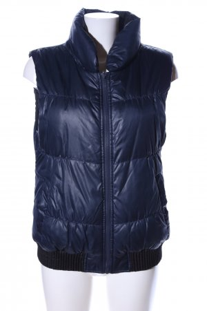 Vero Moda Reversible Vest blue quilting pattern simple style