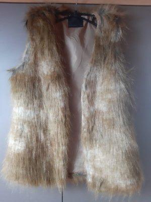 Vero Moda Fake Fur Vest sand brown