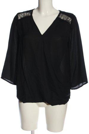 Vero Moda Wickel-Bluse schwarz Casual-Look