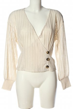 Vero Moda Kopertowa bluzka w kolorze białej wełny Elegancki