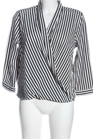 Vero Moda Blouse portefeuille noir-blanc imprimé allover style décontracté