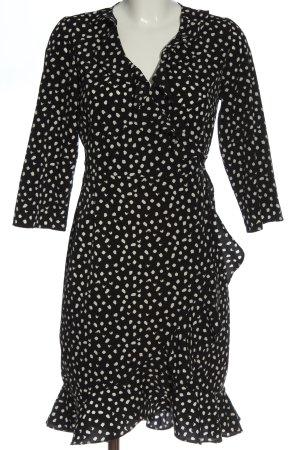 Vero Moda Kopertowa sukienka czarny-biały Na całej powierzchni W stylu casual