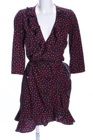 Vero Moda Robe portefeuille bleu-rouge imprimé allover style décontracté
