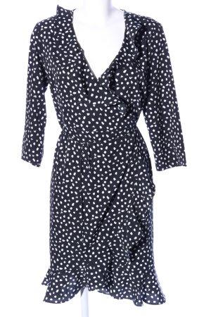 Vero Moda Robe portefeuille noir-blanc motif abstrait style d'affaires