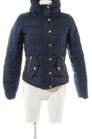 Vero Moda Winterjacke blau Steppmuster Casual-Look