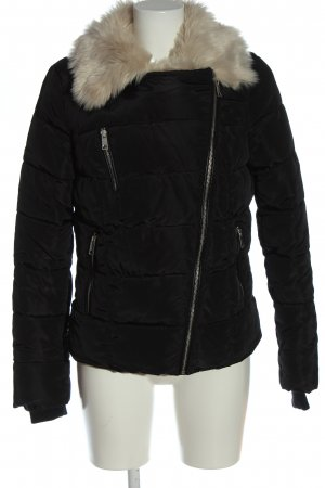 Vero Moda Kurtka zimowa czarny Pikowany wzór W stylu casual