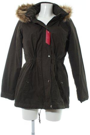 Vero Moda Winterjacke dunkelgrün Casual-Look