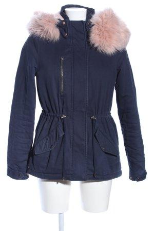 Vero Moda Winterjacke blau-pink Casual-Look