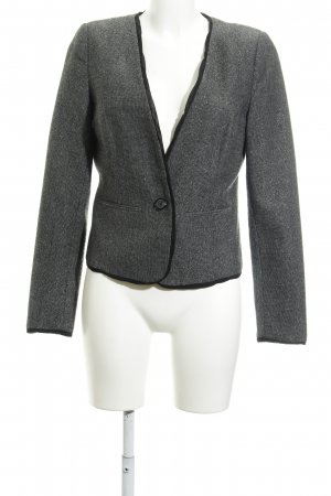 Vero Moda Woll-Blazer dunkelgrau-schwarz Webmuster Business-Look