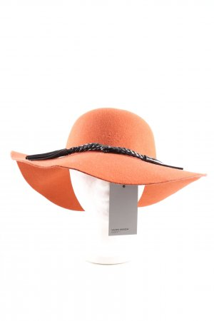 Vero Moda Woolen Hat light orange-black casual look