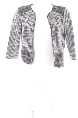 Vero Moda Wolljacke schwarz-wollweiß Streifenmuster Casual-Look