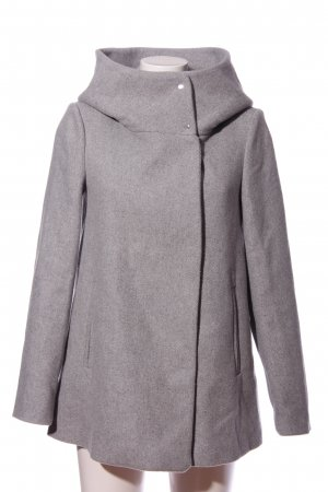 Vero Moda Manteau en laine gris clair moucheté style décontracté