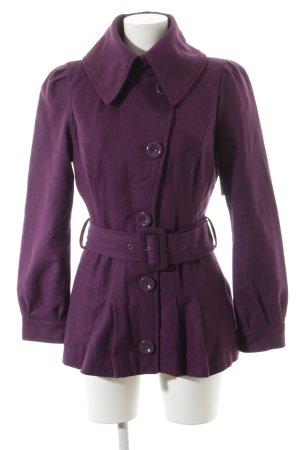 Vero Moda Wollmantel violett Casual-Look