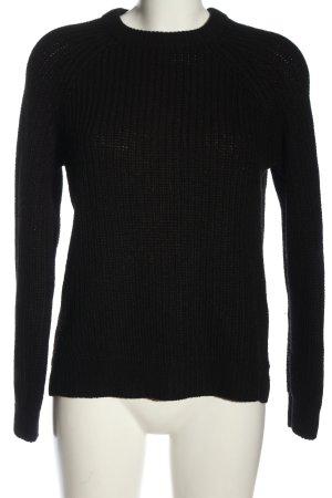 Vero Moda Warkoczowy sweter czarny Warkoczowy wzór W stylu casual