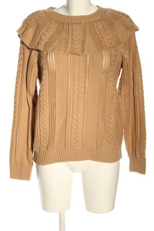 Vero Moda Warkoczowy sweter nude Warkoczowy wzór W stylu casual