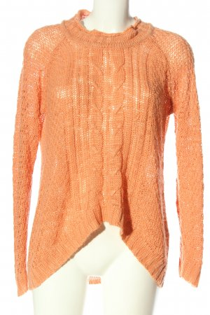 Vero Moda Pull torsadé orange clair torsades style décontracté