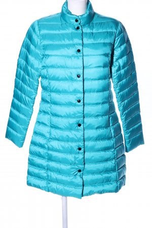 Down Coat turquoise quilting pattern casual look