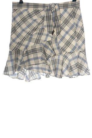 VERONICA BEARD Spódnica z falbanami Wzór w kratkę W stylu casual
