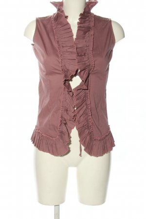 Veronica Bond Smanicato lavorato a maglia rosa stile casual
