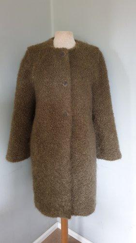 VERONIQUE BRANQUINHO wolle mohair mantel coat dunkelgrün oliv gr.40