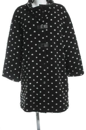 Verpass Wolljacke schwarz-weiß Punktemuster schlichter Stil