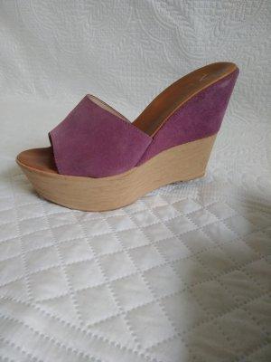 Versace 19.69 Sabot violet cuir