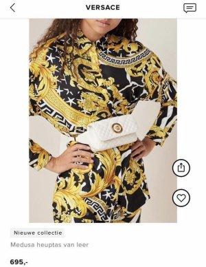 Versace Borsa telaio bianco-oro Pelle