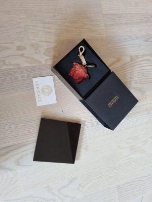 Gianni Versace Pendente oro-rosso scuro Metallo