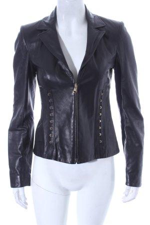 Versace Biker Jacket black-gold-colored biker look