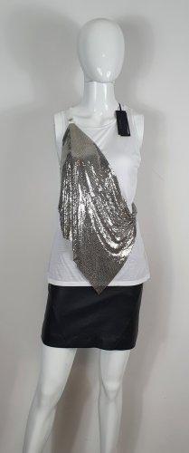 Versace Sleeveless Blouse white silk