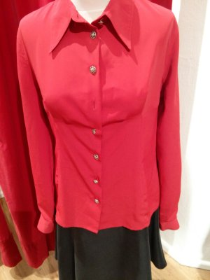 Versace Bluse in rot, Gr. M - original!