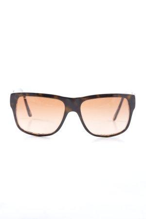 Versace Occhiale nero-crema motivo astratto stile casual