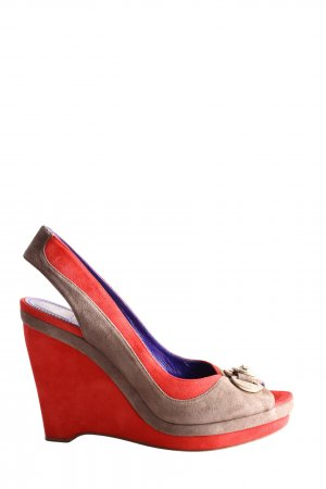 Versace Collection Peeptoe Pumps rot-braun Casual-Look