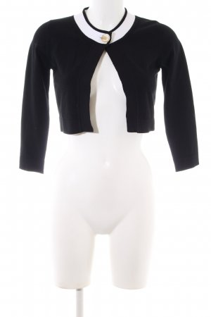 Versace Collection Strickbolero schwarz Casual-Look