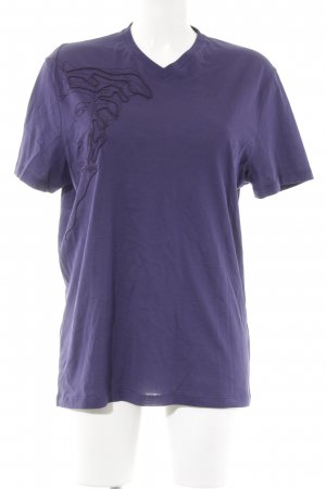 Versace Collection V-Ausschnitt-Shirt dunkelviolett-braunviolett Casual-Look