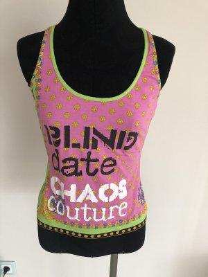 Versace Top sin hombros multicolor