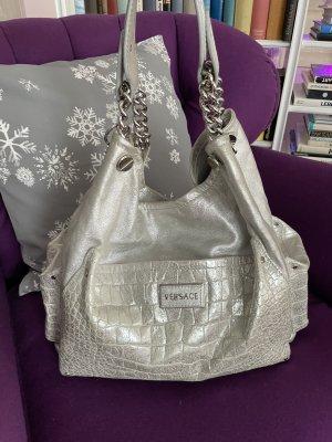 Versace Cotoure Tasche Silber Leder